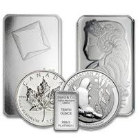 PLATINUM COINS, BARS, JEWELRY