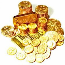 GOLD COINS , BARS, JEWELRY